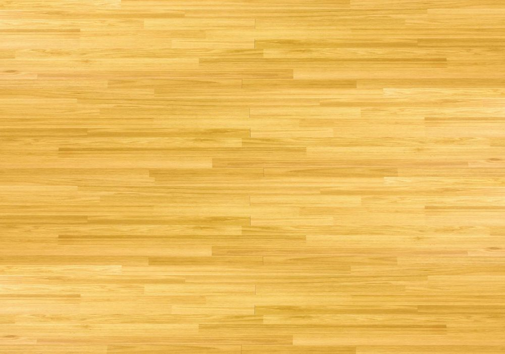 Hardwood maple floor viewed from above.